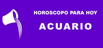 Acuario - Horoscopo para hoy